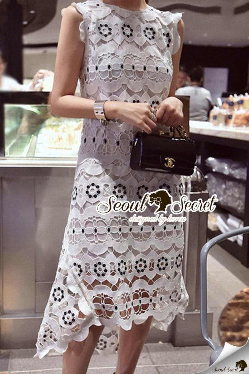Seoul Secret Say's... Classy Flora Lace Dress