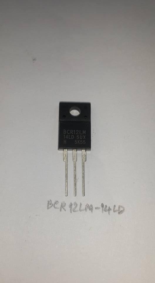 BCR12LM-14LDไตรแอคTRAICตัวถังTO-220Fหลังสีดำราคา