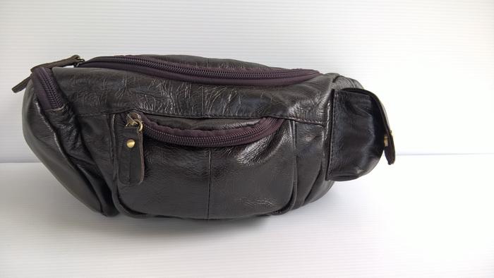 กระเป๋าคาดเอว หนังออยล์