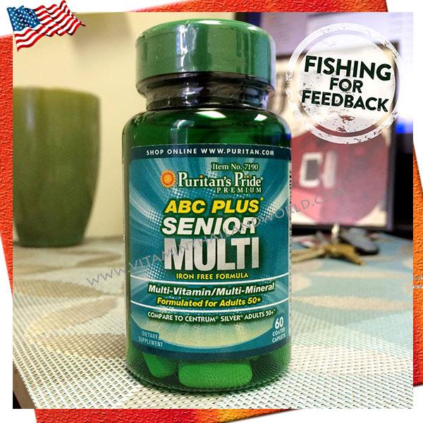 วิตามินรวม ABC Plus® Senior Multivitamin Multi-Mineral Formula