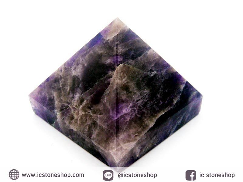 หินทรงพีระมิค-อเมทิสต์ (Amethyst) (105g)