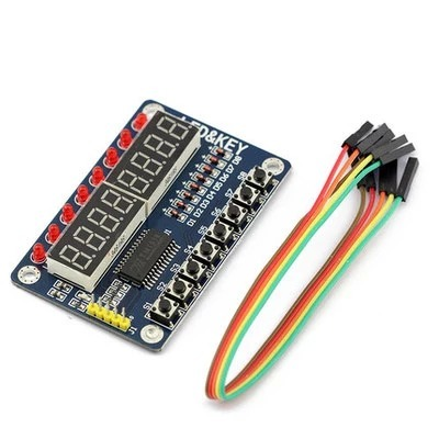 TM1638 BASED BOARD บอร์ดแสดงผลตัวเลข 8 หลักพร้อม LED และปุ่มกด