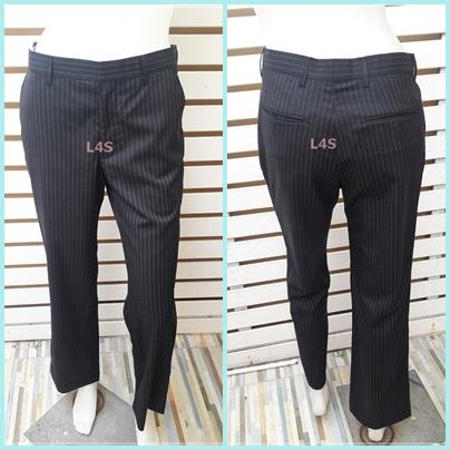 กางเกงผ้า สีดำ มือสอง แบรนด์เนม G2000 เอว 30 นิ้ว