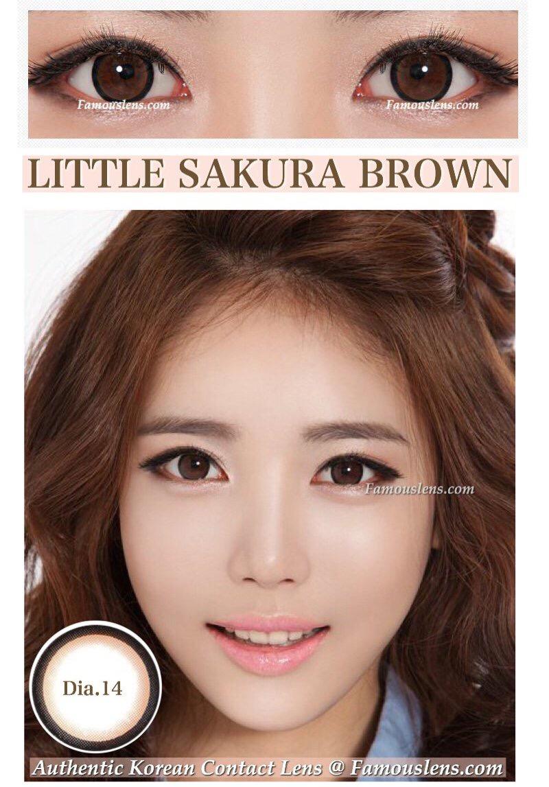 Little Sakura Brown ซากุระ คอนแทคเลนส์สีน้ำตาล ขนาดเล็ก Dia.14