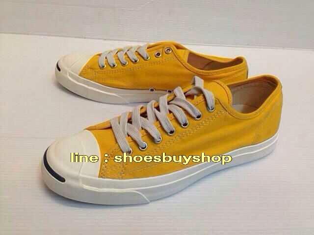 รองเท้า converse Jack Purcell สีเหลือง