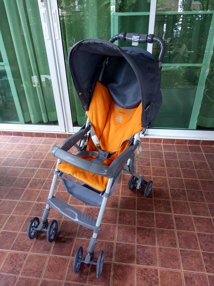รถเข็นเด็ก สีเหลือง-เทา รหัสสินค้า SL0056