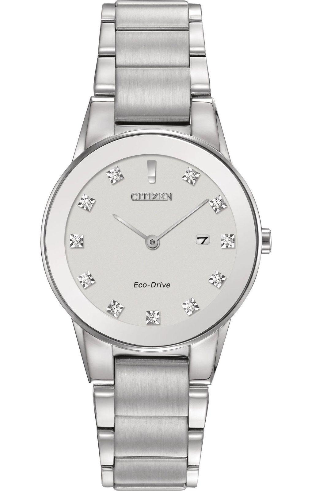 นาฬิกาผู้หญิง Citizen Eco-Drive รุ่น GA1050-51B, Axiom Silver Dial Ladies Watch
