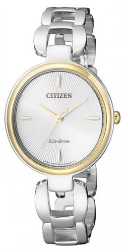 นาฬิกาผู้หญิง Citizen รุ่น EM0424-88A, Eco-Drive Sapphire