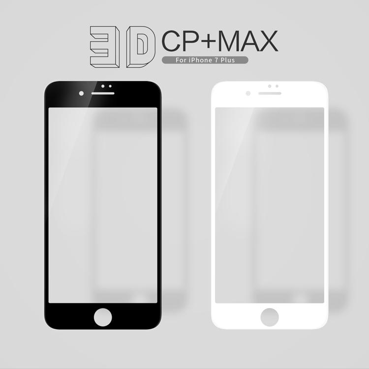 ฟิล์มกระจกนิรภัยแบบเต็มจอ Nillkin 3D CP+ MAX สำหรับ iPhone 7 Plus