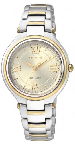 นาฬิกาข้อมือผู้หญิง Citizen Eco-Drive รุ่น FE2045-57P, Japan Sapphire Elegant Watch
