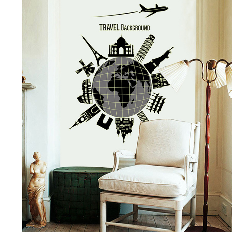 สติกเกอร์สถานที่ท่องเที่ยวเด่นของโลก(เรืองแสง)