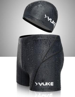 ชุดว่ายน้ำคนอ้วนชาย พร้อมส่ง :กางเกงว่ายน้ำชายสีดำ มีหมวกแบบสวยจ้า:เอว32-38นิ้ว สะโพก36-44นิ้วจ้า