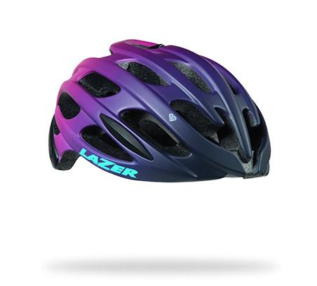 หมวกจักรยาน LAZER Elle สี Matte Bordeaux gradient + LED + Aeroshell