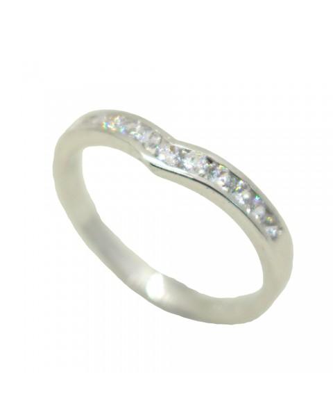 แหวนอัลลอยด์หุ้มทองคำขาวแท้ ประดับเพชร