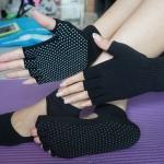 ถุงมือ ถุงเท้าโยคะ กันลื่น YKSM30-4
