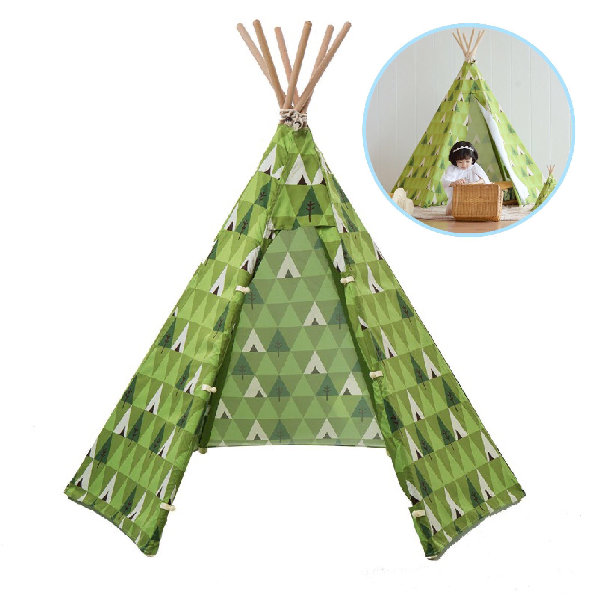 บ้านจำลองทรงเต๊นท์อินเดียนแดงสำหรับเด็ก LOOKA Tent (Theme Forest)