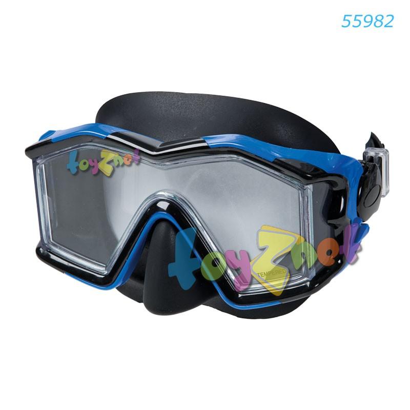 Intex หน้ากากดำน้ำ เอ็กซ์โพลเรอร์ โปร ซิลิโคน สีน้ำเงิน รุ่น 55982