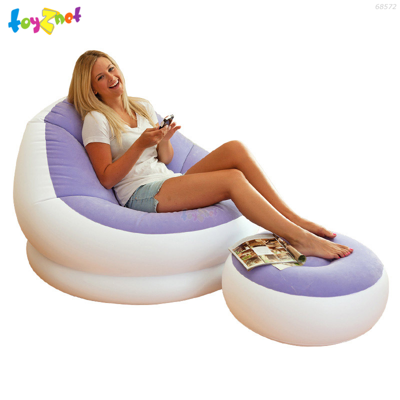 Intex เก้าอี้เป่าลมคาเฟ่เชสย์ สีม่วง รุ่น 68572PP
