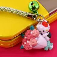 ที่ห้อยมือถือ Hello Kitty Dream Job พวงกุญแจไซส์มินิ หนึ่งในอาชีพใฝ่ฝันของคิตตี้ (ช่างดอกไม้) น่ารักมากค่ะ