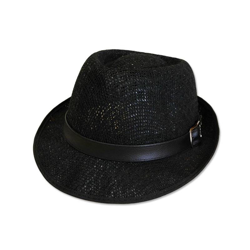 หมวกปานามา Trilby เนื้อนิ่ม (สีดำ) by Season Tales