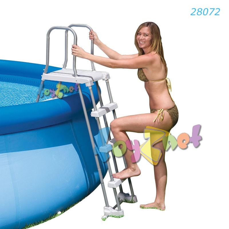 Intex บันไดสระน้ำแบบถอดได้ - สระสูง 36-42 นิ้ว (91-107 ซม.) รุ่น 28072