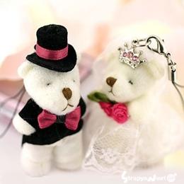 พวงกุญแจน้องหมีคู่รัก มี 2 ชิ้นในเซ็ต