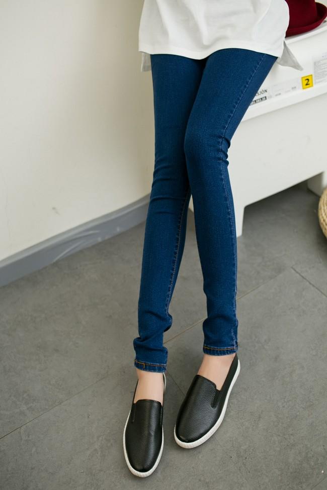 เลคกิ้งคนท้อง P28 สี dark blue jean (ผ้ายีนส์) ราคาส่ง 385 บาท