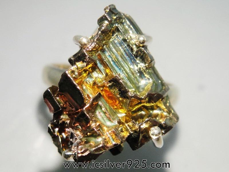 ▽บิสมัท Bismuth แหวนเงินแท้ 925 (แหวนเบอร์ : 55)