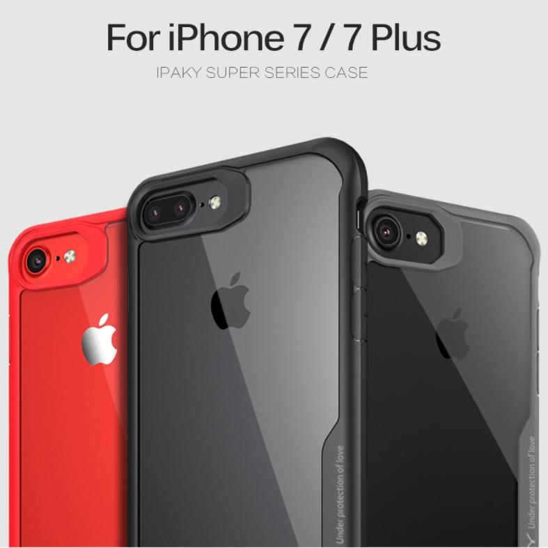 เคสกันกระแทก iPAKY LEKOO Series Silicone Frame iPhone 8 Plus / 7 Plus / 6S Plus / 6 Plus