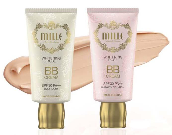 Mille Whitening Rose BB Cream #1 Sliky Ivory