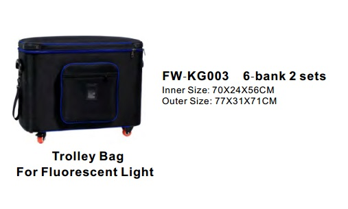 Batteries, Chargers, On-Camera Light Accessries, Cases & Bags F W-K G003