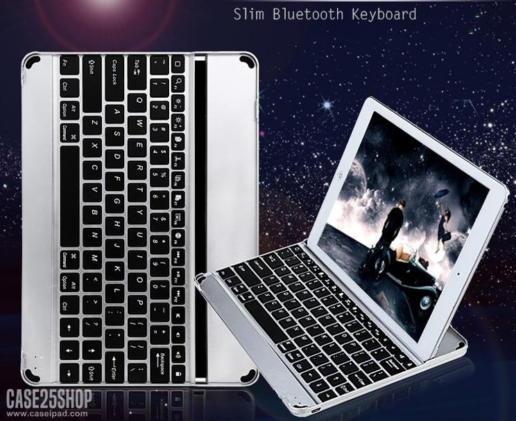 (iPad mini 1/2/3) Keyboard Aluminium Bluetooth (คีย์บอร์ด บลูทูธ iPad mini 1/2/3)
