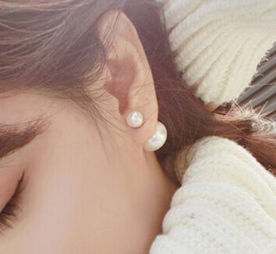 N1043 - ต่างหูแฟชั่น ต่างหูหนีบ ต่างหูเกาหลี ตุ้มหูแฟชั่น ตุ้มหู ต่างหู เครื่องประดับ pearl earrings