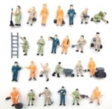 คนงานก่อสร้าง สเกล 1:87 คละแบบ 25 ชิ้น