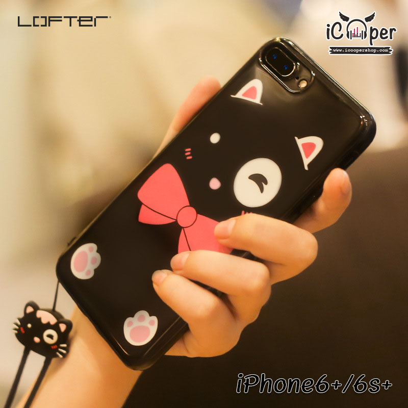 LOFTER Lovely Cat - Black (iPhone6+/6s+)