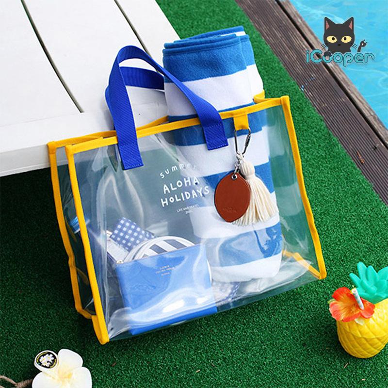 RONG.SHI.DAI Transparent PVC Bag (Blue)