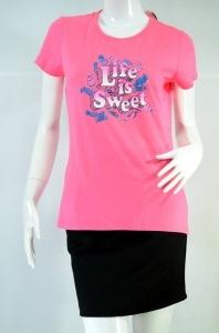 BOSSINI Tee Time เสื้อยืดแขนสั้นสีชมพู