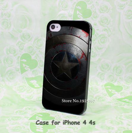 เคสไอโฟน เคสI4/4s เคสพลาสติกฝาหลังลายโล่ห์กับตันอเมริกา