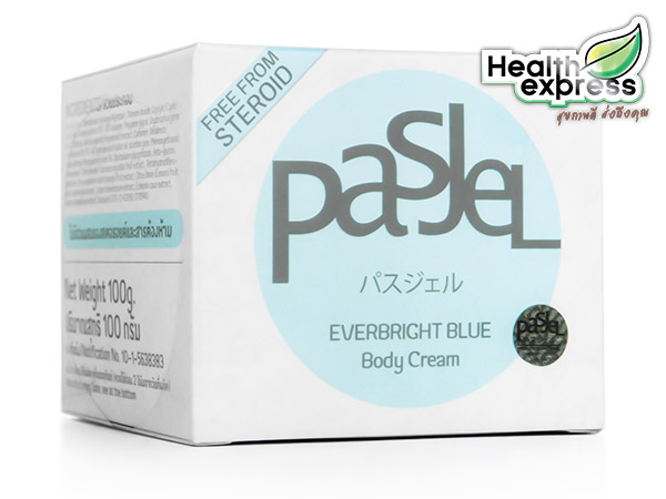 Pasjel Everbright Blue Body Cream ปริมาณสุทธิ 100 g. (Pasjel สีฟ้า)