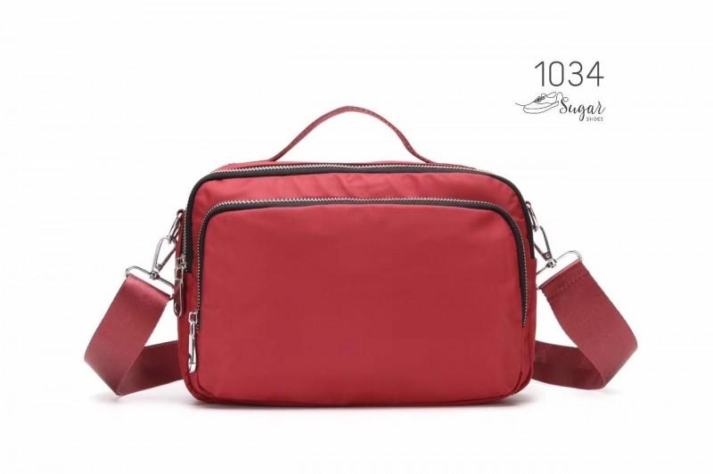 พร้อมส่ง กระเป๋าสะพาย Crossbody -1034 [สีแดง]