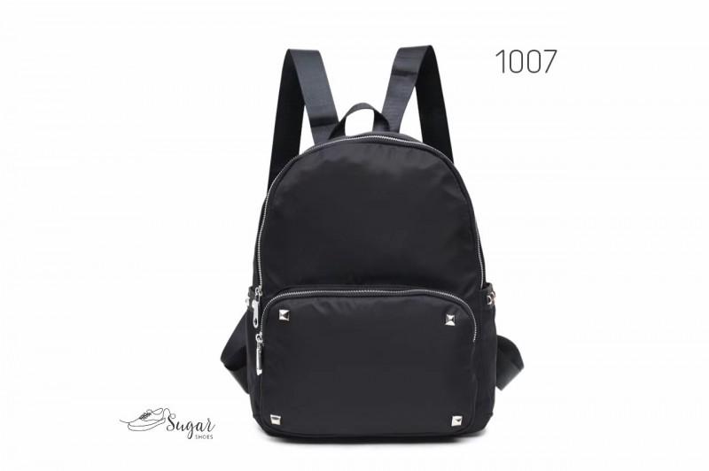 พร้อมส่ง กระเป๋าเป้ผ้าไนล่อนสไตล์ญี่ปุ่น-1007 [สีดำ]