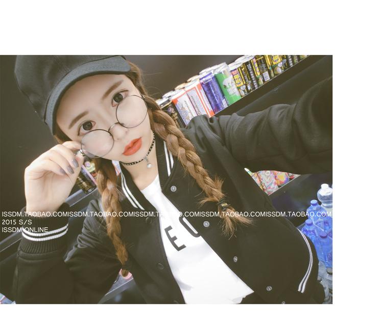 เสื้้อกันหนาวแฟชั่นเกาหลีสีดำน่ารักๆ
