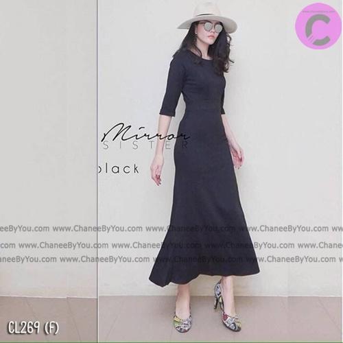 Maxi dress เดรสยาวผ้ายืดโรดัลโด้ เดรสทรงสวย - พร้อมส่ง