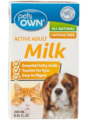 pets own adult active milk 250ml 85รวมส่ง