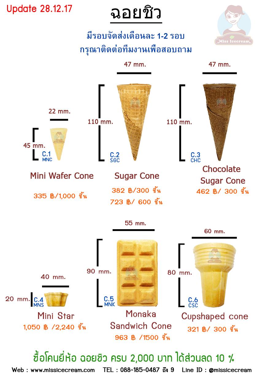 โคนไอศกรีม ยี่ห้อฉอยชิว (CCC)