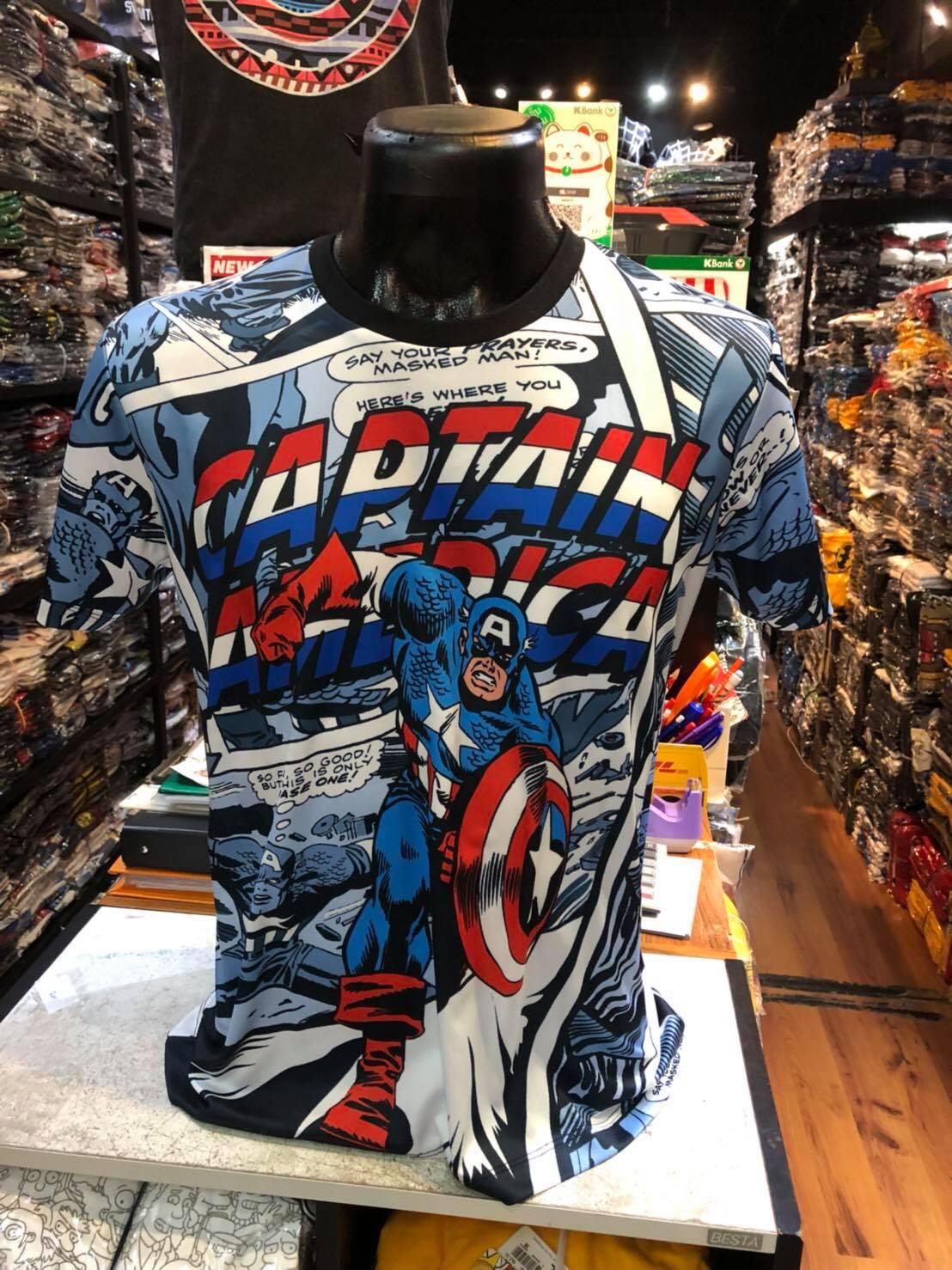 กัปตันอเมริกา ผ้า premium SCUBA (Captain America Comic CODE:1196)