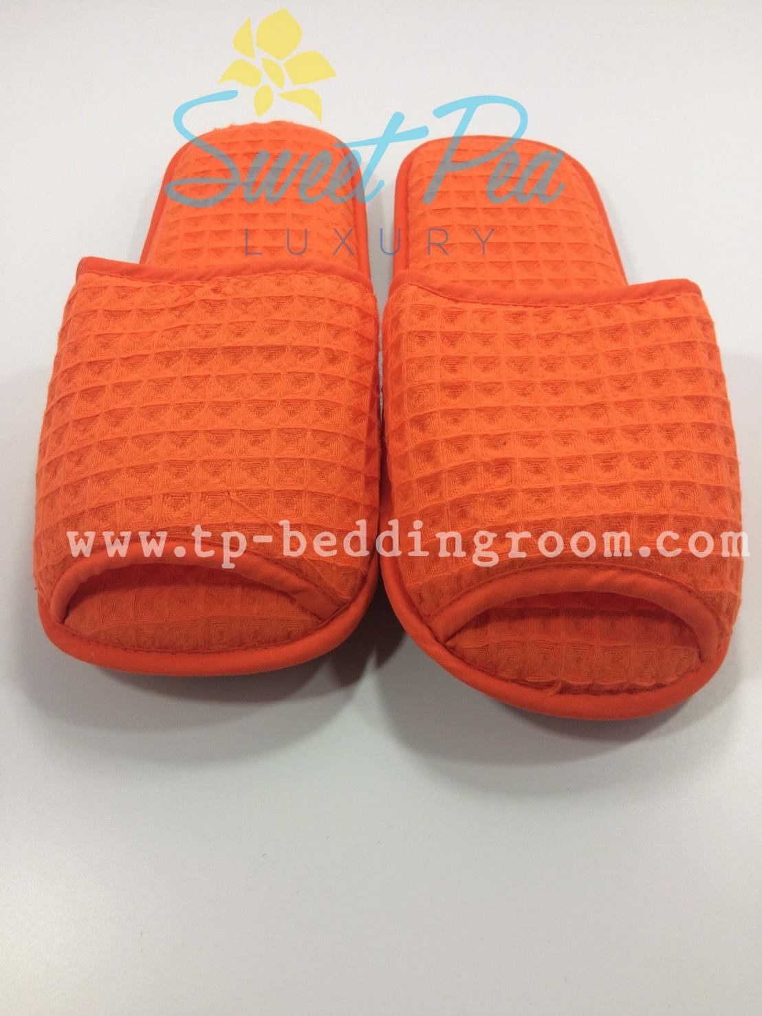 รองเท้า Slipper รังผึ้ง สีส้ม หัวเปิด