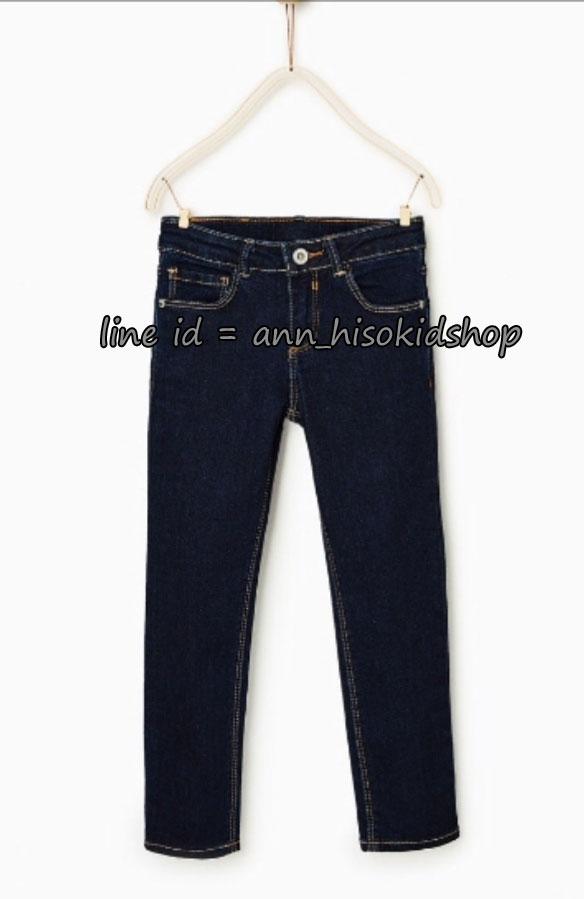 2055 ZARA Basic Jeans - Dark Blue ขนาด 11-12 ปี
