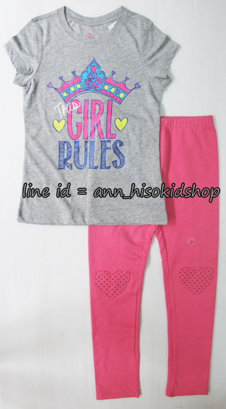SP009 The children place Graphic Tee + Palmino Pink Legging