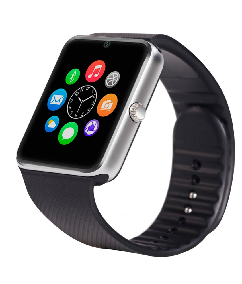GT08 Smart Watch Bluetooth and Sim Card Support - Silver